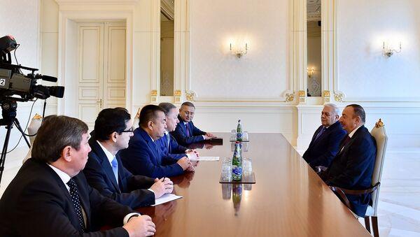 Президент Ильхам Алиев принял председателей парламентов Турции, Казахстана и Кыргызстана - Sputnik Азербайджан