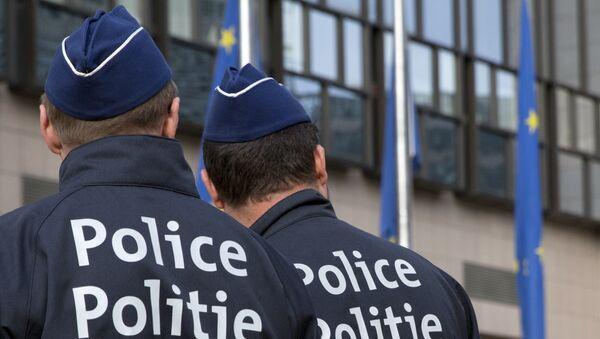 Бельгийские полицейские, фото из архива - Sputnik Азербайджан