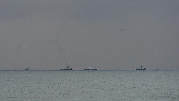 Место крушения самолёта Ту-154 Минобороны РФ в Сочи - Sputnik Азербайджан