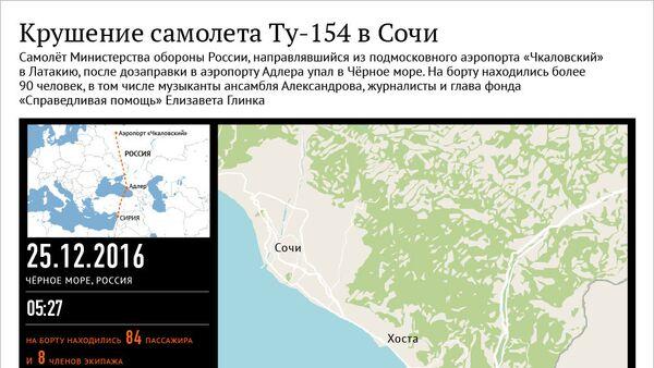 Крушение самолета Ту-154 в Сочи - Sputnik Азербайджан