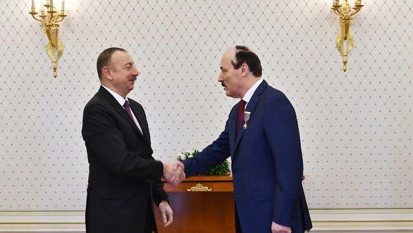 Президент Азербайджана Ильхам Алиев принял главу Республики Дагестан РФ Рамазана Абдулатипова - Sputnik Азербайджан