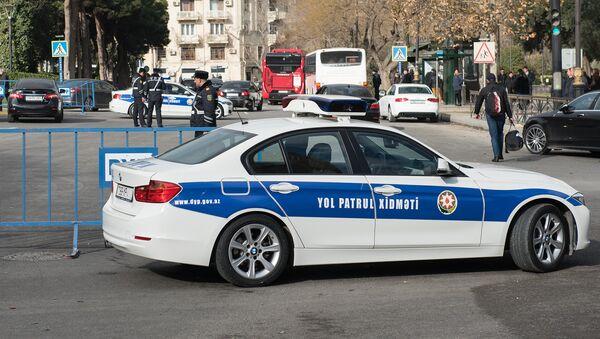 Автомобиль дорожно-патрульной службы в Баку, фото из архива - Sputnik Азербайджан