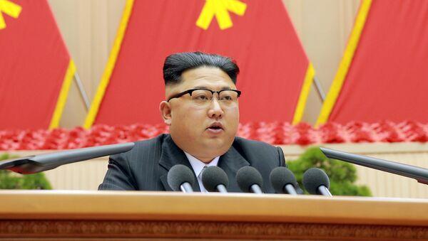 Şimali Koreya prezidenti Kim Çen İn - Sputnik Azərbaycan
