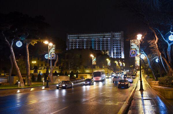 Новогоднее украшение Баку - Sputnik Азербайджан