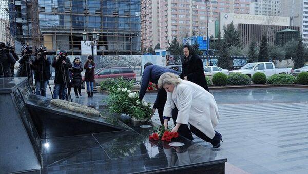 Татьяна Москалькова посетила мемориал Ходжалы. - Sputnik Азербайджан
