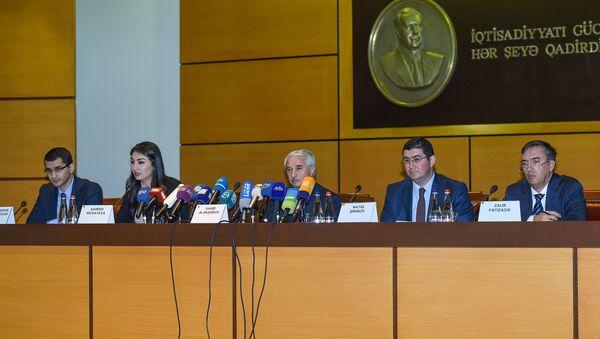 Пресс-конференция заместителя министра по налогам Сахиба Алекперова - Sputnik Азербайджан