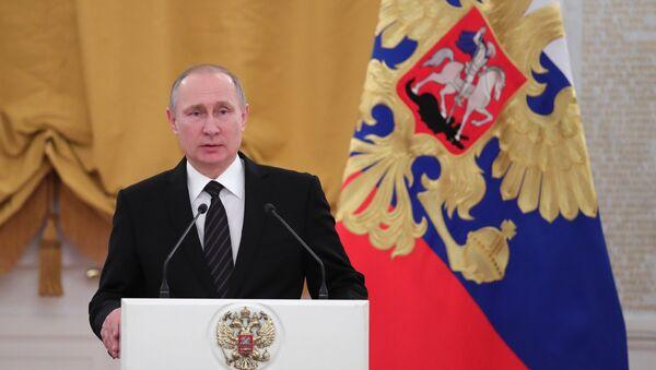 Президент РФ В. Путин выступил на торжественном приёме в Кремле - Sputnik Azərbaycan