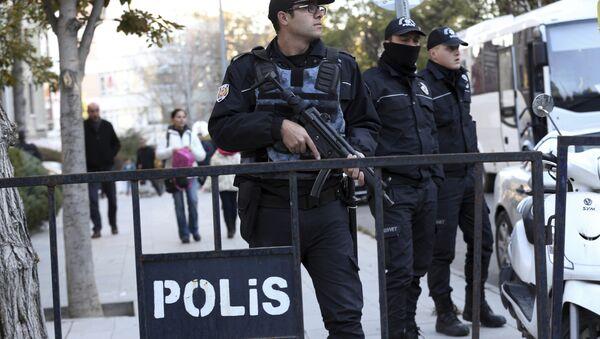 Турецкие полицейские, фото из архива - Sputnik Азербайджан