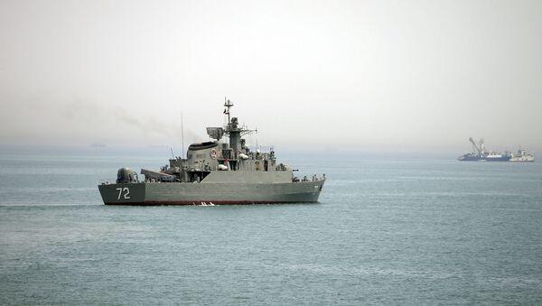 Hörmüz boğazında, ABŞ donanmasına aid Alborz - Sputnik Azərbaycan