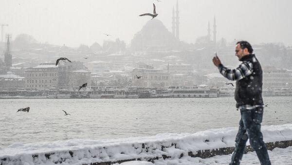 İstanbulda qar - Sputnik Azərbaycan