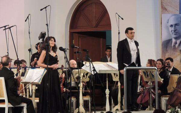Концетр посвященный 85-летию Азербайджанского симфонического оркестра телевидения и радио имени Ниязи - Sputnik Азербайджан