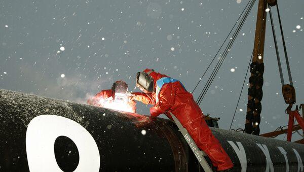 Сварка стыка газопровода, фото из архива - Sputnik Азербайджан