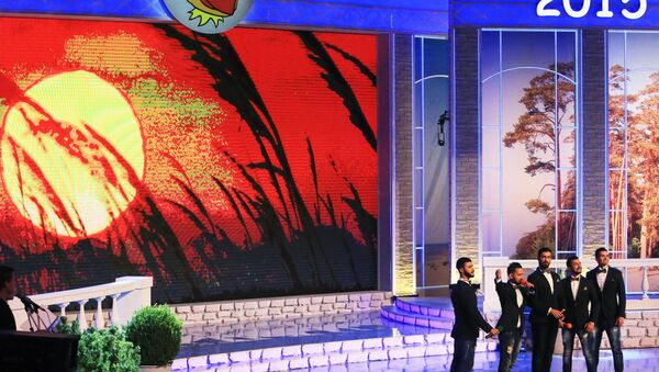 Сборная команда Баку на музыкальном фестивале Голосящий КиВиН, фото из архива - Sputnik Азербайджан