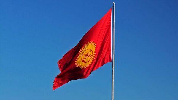 Флаг Кыргызстана, фото из архива - Sputnik Азербайджан