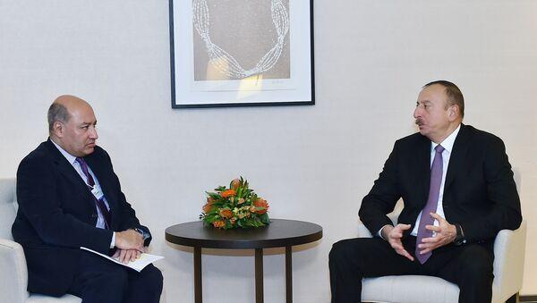 İlham Əliyev Davosda Avropa Yenidənqurma və İnkişaf Bankının prezidenti ilə görüşüb - Sputnik Azərbaycan