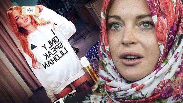 Amerikalı müğənni-aktrisa Lindsay Lohan - Sputnik Azərbaycan