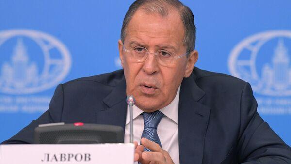 Пресс-конференция министра иностранных дел РФ С. Лаврова - Sputnik Азербайджан