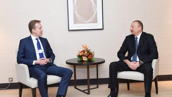 İlham Əliyevin Davosda Norveçin xarici işlər naziri ilə görüşü olub - Sputnik Azərbaycan
