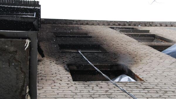 Жилой дом , где произошел взрыв бытового газа, фото из архива - Sputnik Азербайджан