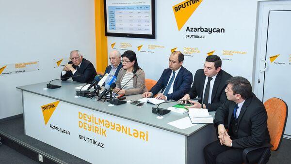 Пресс-конференция на тему Новые правила проведения выпускных экзаменов для IX классов: что они дадут? - Sputnik Азербайджан