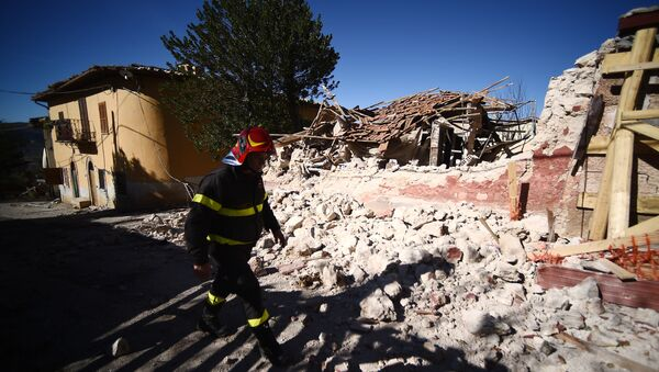 Землетрясение в Италии, фото из архива - Sputnik Азербайджан