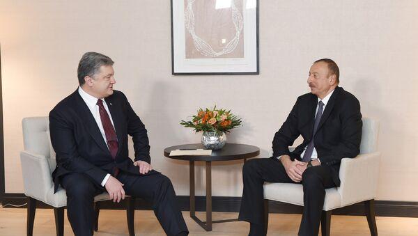 Встреча президентов Азербайджана и Украины Ильхама Алиева и Петра Порошенко - Sputnik Азербайджан