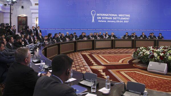 Qazaxıstanın paytaxtı Astanada Suriya üzrə danışıqların ikinci — sonuncu mərhələsi başlayıb - Sputnik Azərbaycan