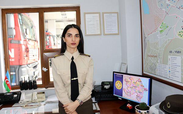 Сержант внутренней службы Севиндж Гасымова - Sputnik Азербайджан