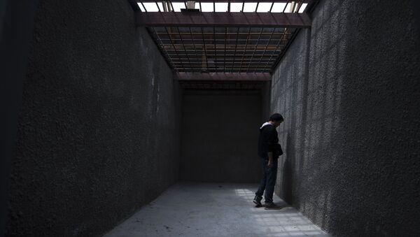 Заключенный в колонии, фото из архива - Sputnik Азербайджан