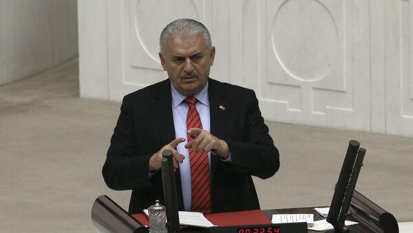 Премьер-министр Турции Бинали Йылдырым - Sputnik Азербайджан