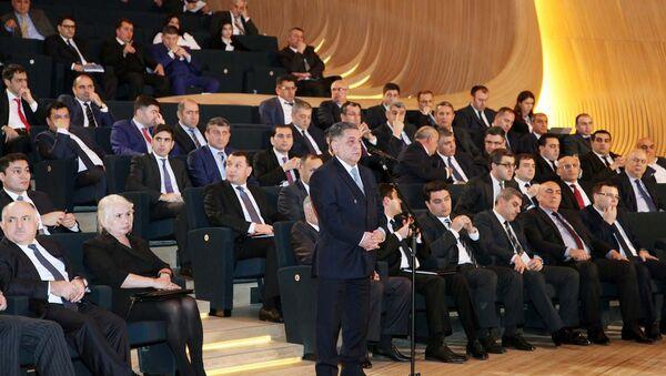 Конференция, посвященная итогам третьего года реализации Государственной программы социально-экономического развития регионов Азербайджанской Республики в 2014-2018 годах - Sputnik Азербайджан