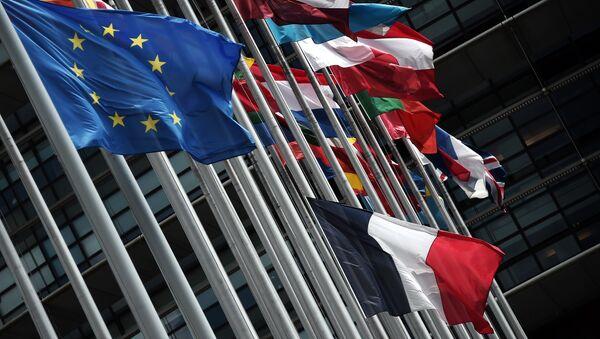 Флаги стран Евросоюза, фото из архива - Sputnik Азербайджан