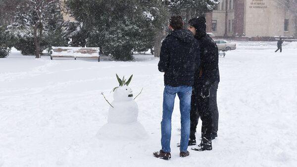 Снег в Баку, фото из архива - Sputnik Азербайджан
