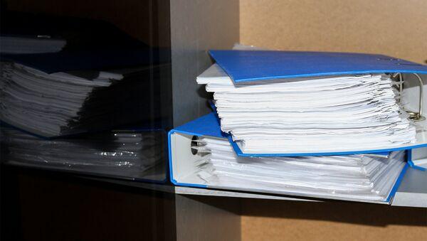 Папки с документами, фото из архива - Sputnik Азербайджан