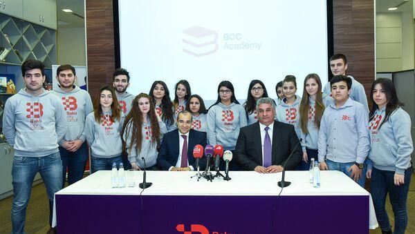 Открытие академии волонтеров гонки Гран-при Азербайджана - Sputnik Азербайджан