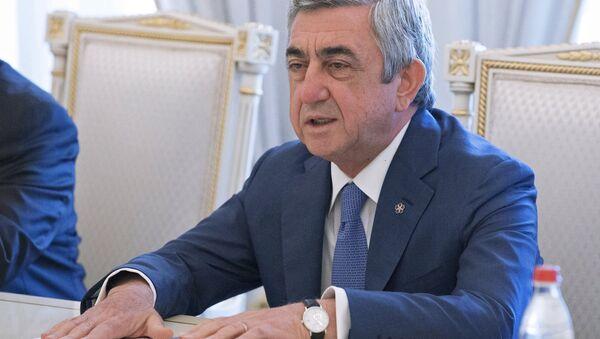 Президент Армении Серж Саргсян - Sputnik Азербайджан