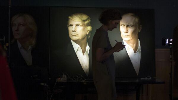 Портреты президента США Дональда Трампа и президента России Владимира Путина, фото из архива - Sputnik Азербайджан