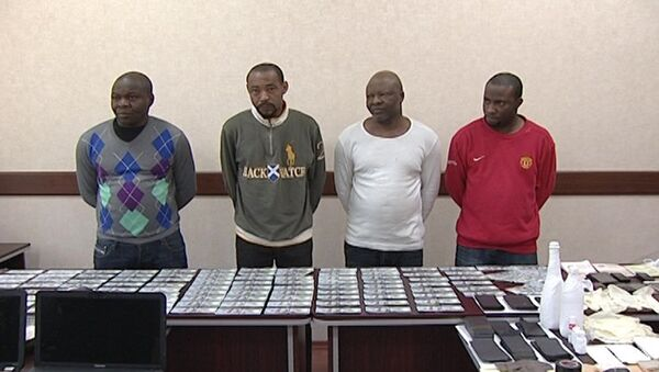 Африканцы, задержаные сотрудниками ГУБОП МВД АР - Sputnik Азербайджан