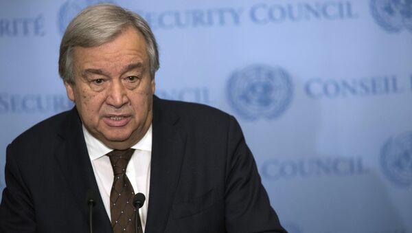 Верховный комиссар ООН по делам беженцев Антонио Гутеррес - Sputnik Azərbaycan