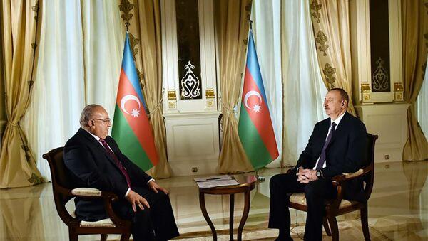 Президент Азербайджана Ильхам Алиев дал интервью корреспонденту телеканала «Аль-Джазира» - Sputnik Азербайджан