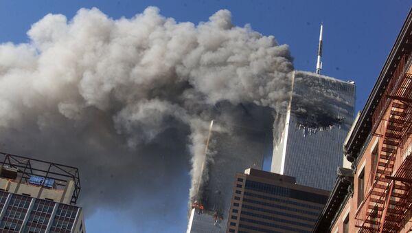 ABŞ-da 2001-ci ilin 11 sentyabrında baş verən terror aktı, arxiv şəkli - Sputnik Azərbaycan