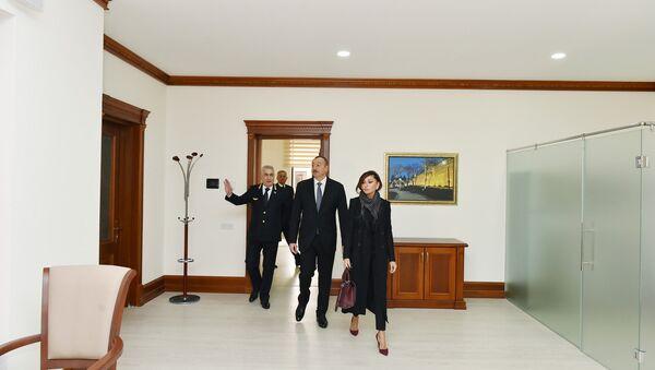 Ильхам Алиев ознакомился с условиями, созданными в административном здании ЗАО «Азербайджанские железные дороги» - Sputnik Азербайджан