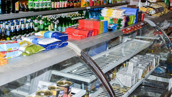 Витрина магазина в Баку, фото из архива - Sputnik Азербайджан