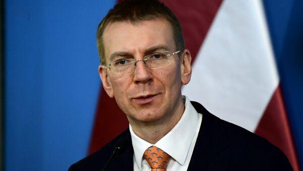 Министр иностранных дел Латвии Эдгар Ринкевичс, фото из архива - Sputnik Азербайджан