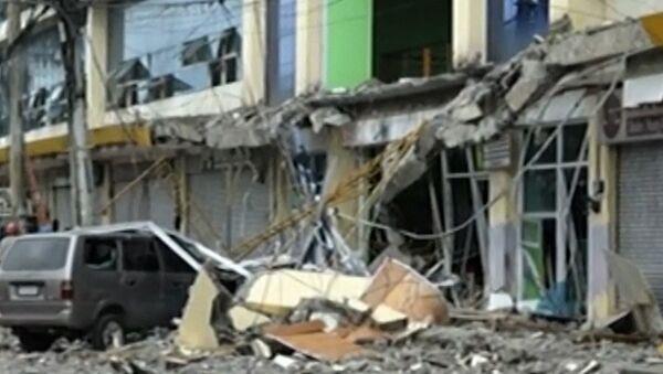 Последствия землетресения в Филиппинах - Sputnik Азербайджан