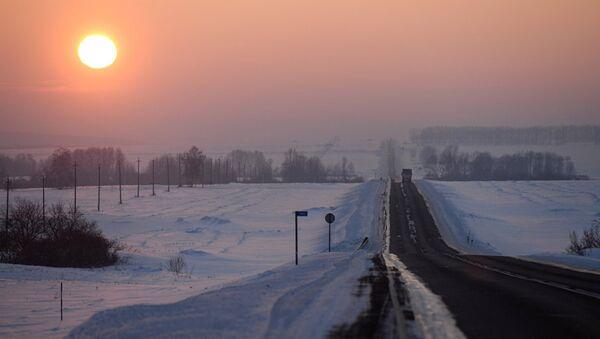 Зима в Сибири, фото из архива - Sputnik Азербайджан