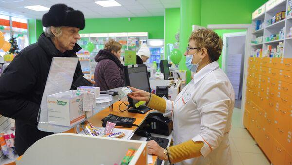 Продажа лекарственных препаратов в одной из аптек, фото из архива - Sputnik Азербайджан