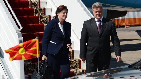 Президент Республики Македония Георге Иванов с супругой Майей Ивановой - Sputnik Азербайджан