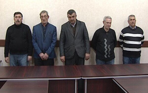 Валютчики, задержанные сотрудниками ГУБОП МВД Азербайджана - Sputnik Азербайджан