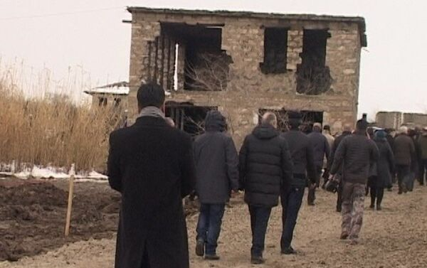 Аккредитованные в Азербайджане дипломатические представители и руководители международных организаций посетили село Джоджуг Мерджанлы - Sputnik Азербайджан